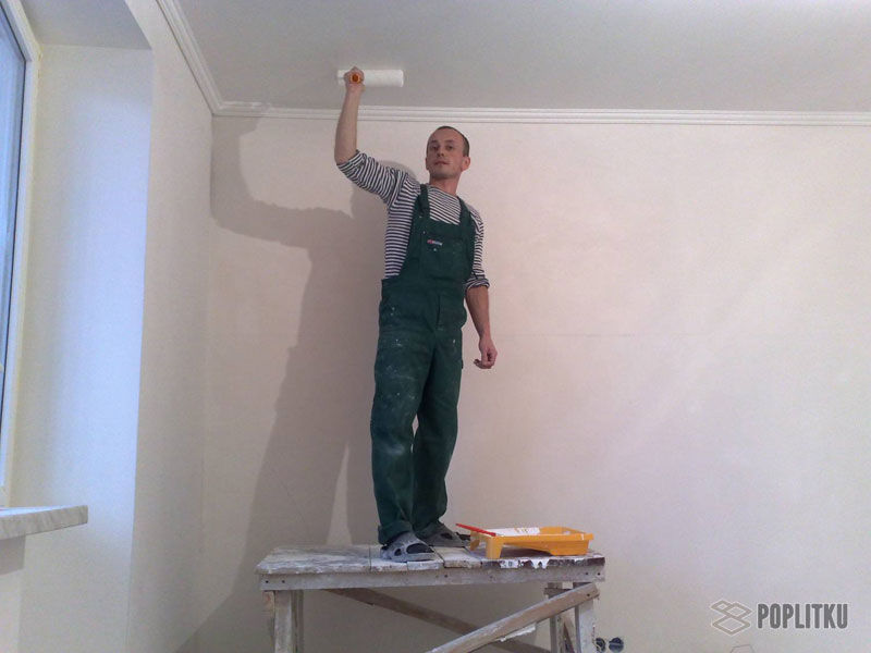 Чем покрасить потолочную плитку из пенопласта? 11-2