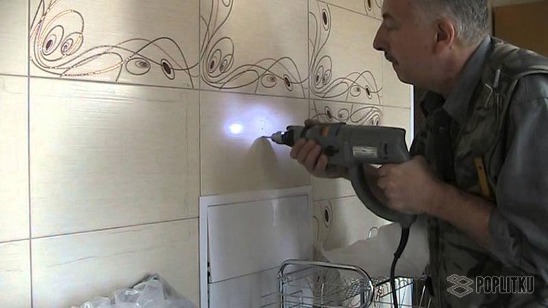 Как сверлить кафельную плитку на стене самостоятельно? 9-2