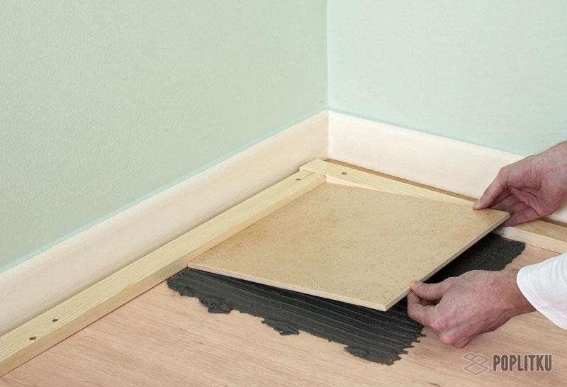Как положить кафельную плитку на деревянный пол самостоятельно? 2-6