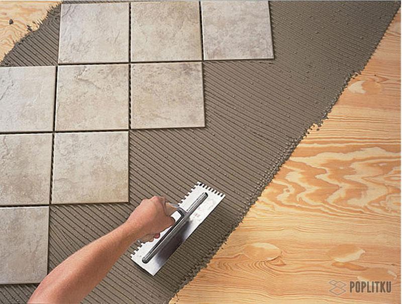 Как положить кафельную плитку на деревянный пол самостоятельно? 2-7