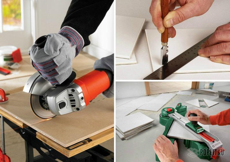 Чем резать плитку в домашних условиях: выбор инструмента 6-4