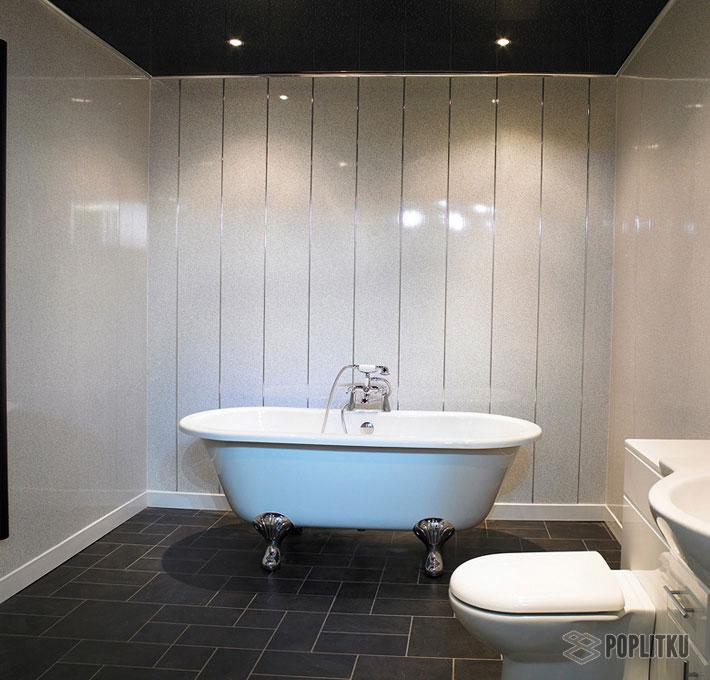 Чем отделать ванную комнату кроме плитки: выбираем лучшие материалы 15-3