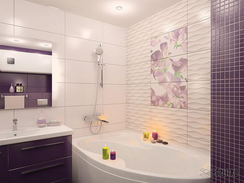 Чем отделать ванную комнату кроме плитки: выбираем лучшие материалы 15-4
