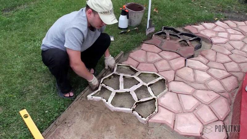 Как своими руками сделать плитку для садовых дорожек