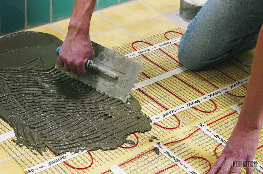 Водяной теплый пол под плитку своими руками: этапы монтажа конструкции 21-2