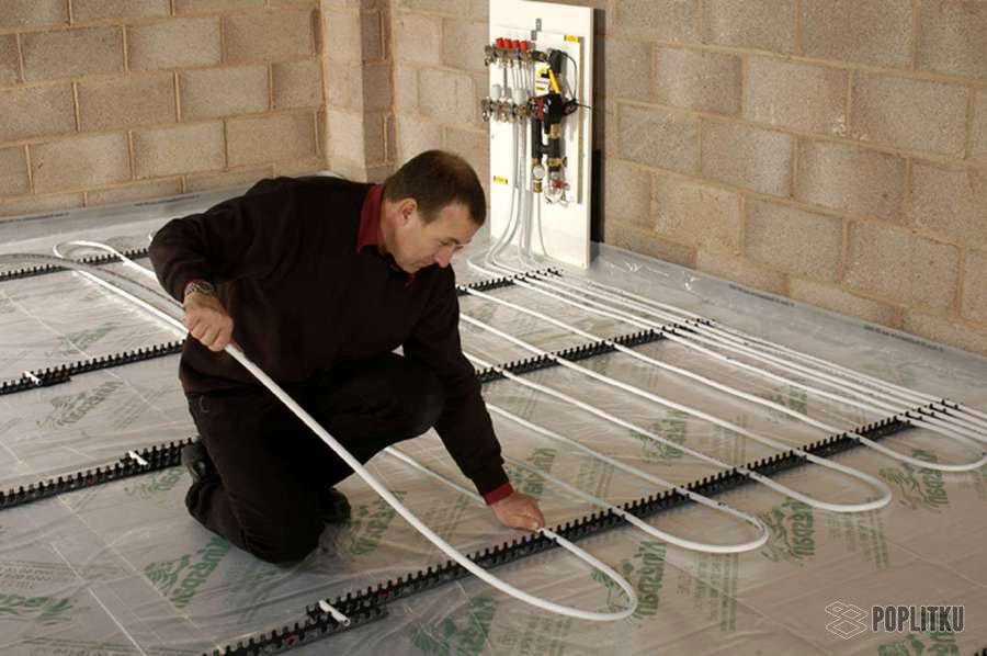 Водяной теплый пол под плитку своими руками: этапы монтажа конструкции 21-3