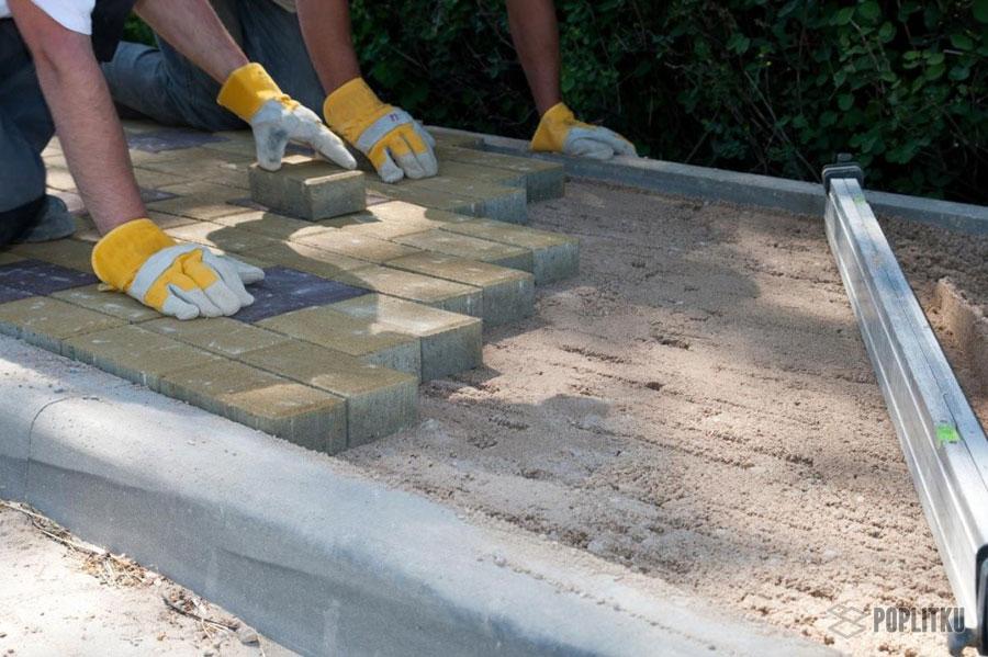 Как установить бордюры для тротуарной плитки: разновидности и размеры поребрика 23-4