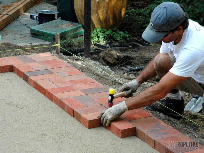 Как положить тротуарную плитку на бетонное основание: все этапы монтажа 26-2