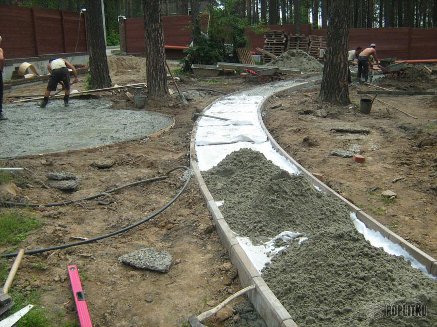 Как положить тротуарную плитку на бетонное основание: все этапы монтажа 26-4