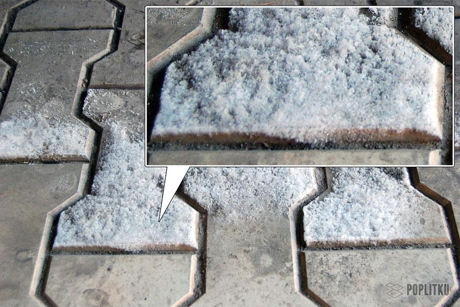 Как убрать высолы на тротуарной плитке и причины их возникновения 28-2