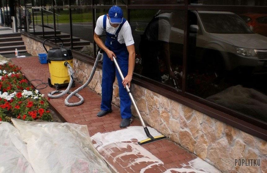 Как убрать высолы на тротуарной плитке и причины их возникновения 28-4
