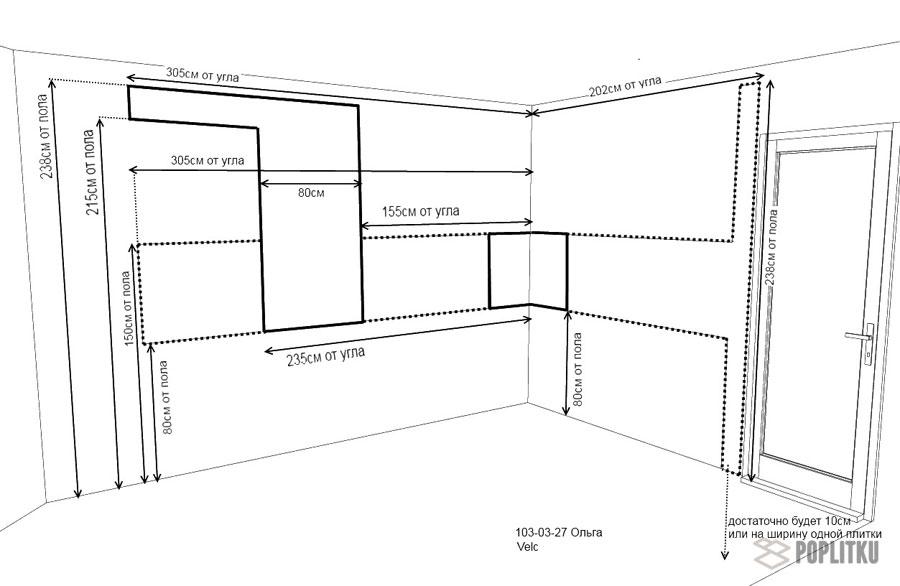 Как выложить фартук из плитки на кухне, его особенности и размеры 29-4