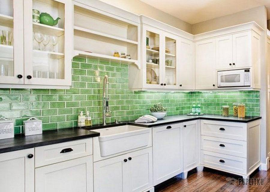 Как выложить фартук из плитки на кухне, его особенности и размеры 29-9