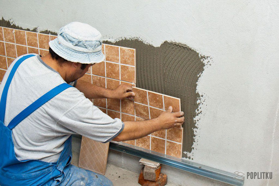 Как правильно класть плитку на стену на века 33-4