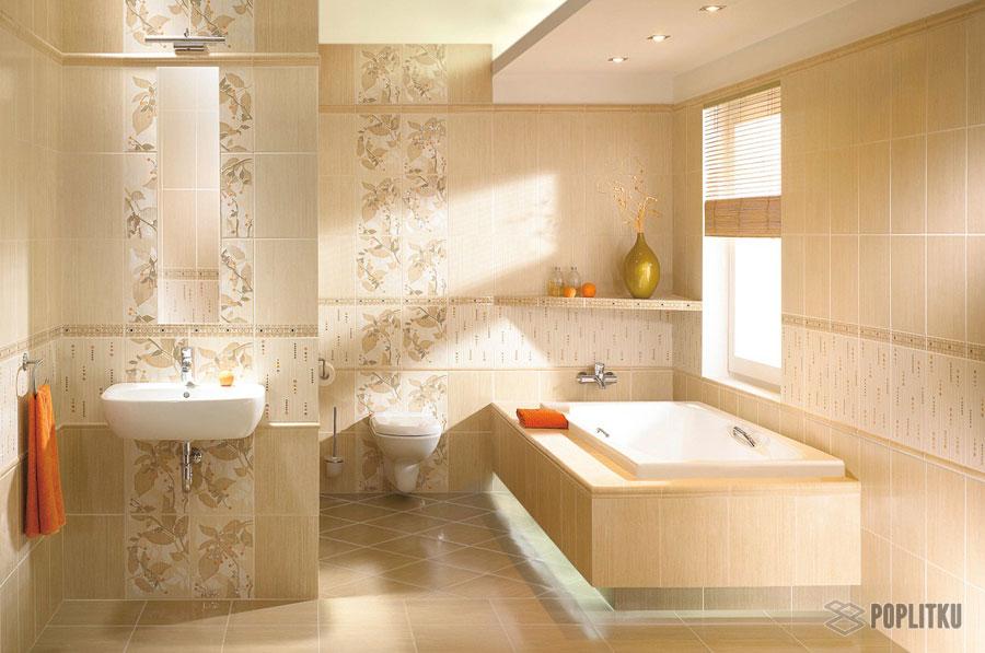 Варианты укладки плитки в ванной - дизайн интерьера 34-10