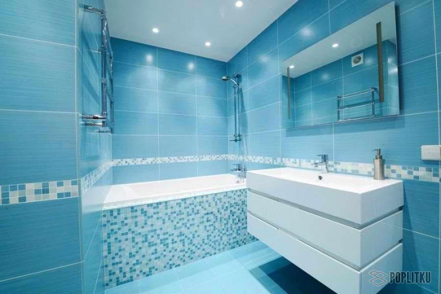 Варианты укладки плитки в ванной - дизайн интерьера 34-12