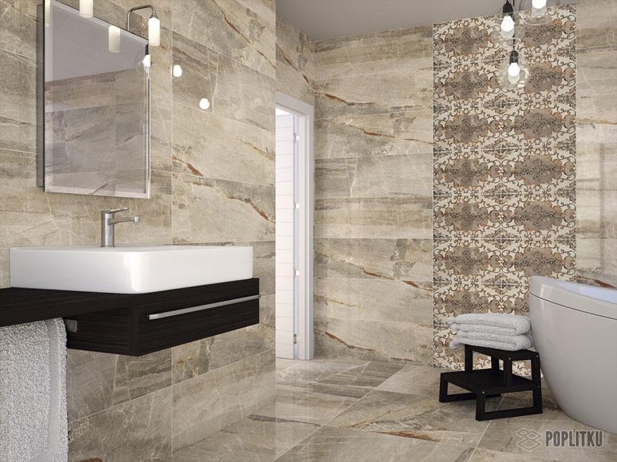 Варианты укладки плитки в ванной - дизайн интерьера 34-14