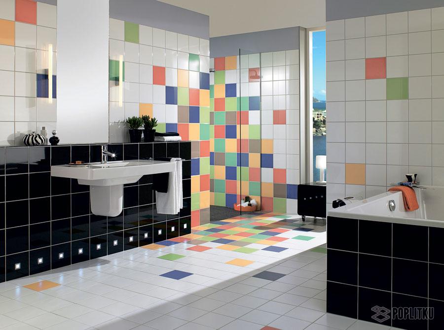 Варианты укладки плитки в ванной - дизайн интерьера 34-2