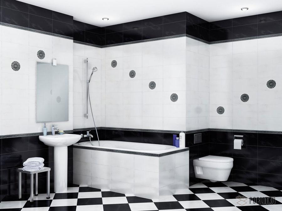 Варианты укладки плитки в ванной - дизайн интерьера 34-3