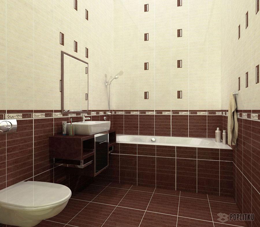 Варианты укладки плитки в ванной - дизайн интерьера 34-4