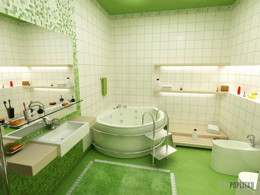 Варианты укладки плитки в ванной - дизайн интерьера 34-5