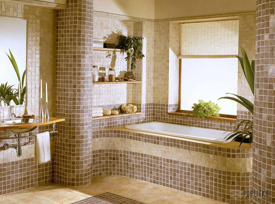 Варианты укладки плитки в ванной - дизайн интерьера 34-6