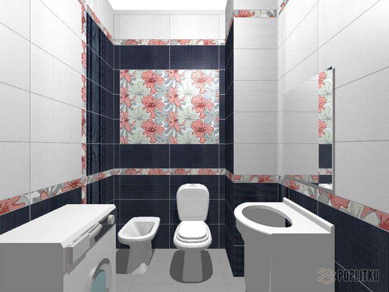 Варианты укладки плитки в ванной - дизайн интерьера 34-9