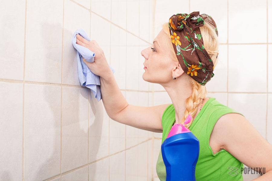 Чем чистить плитку в ванной чтобы блестела