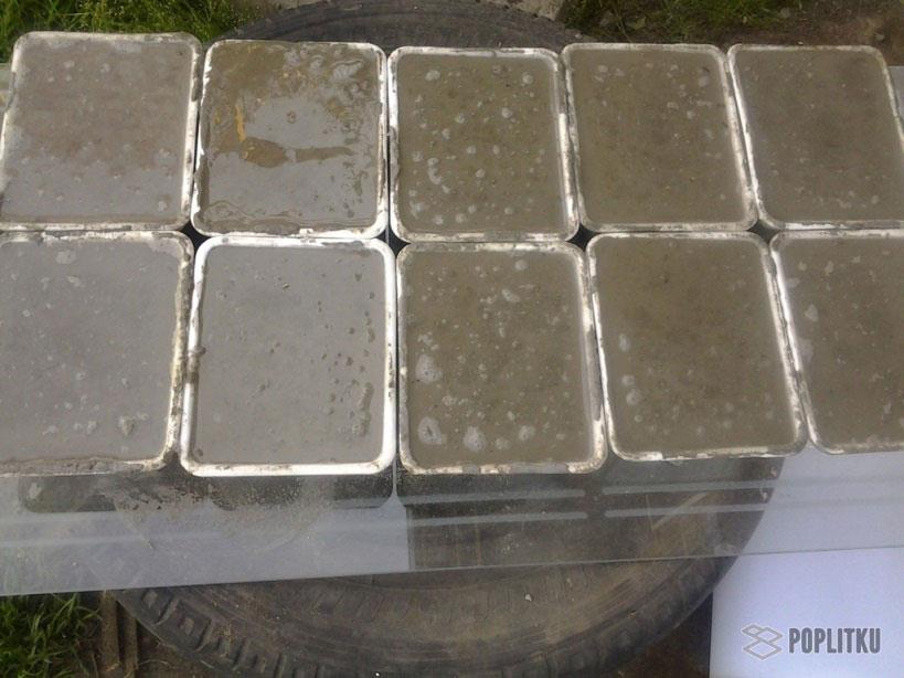 Изготовление тротуарной плитки в домашних условиях, помощь в выборе методики 36-12