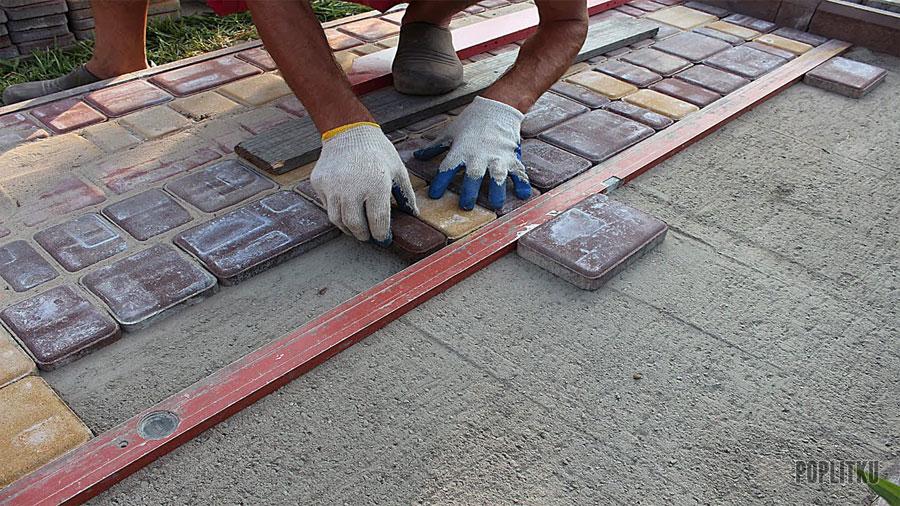 Как класть тротуарную плитку своими руками: способы и порядок укладки 37-2