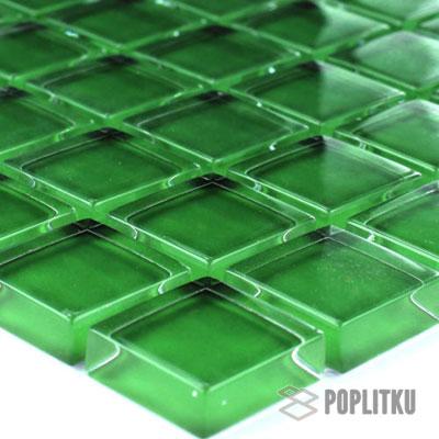 Зелёная стеклянная мозаика