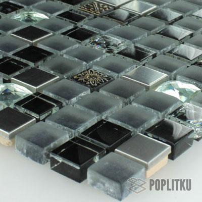 Мозаика чёрная сталь