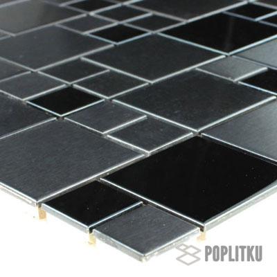 Мозаика цвета металлической чёрной стали