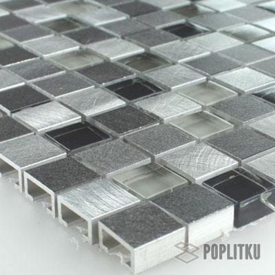 Мозаика имитация алюминия