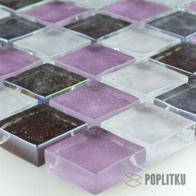 Мозаика фиолетово-белая