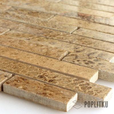 Полированная коричневая мозаика