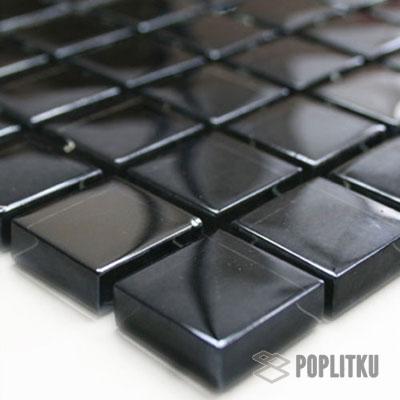 Мозаика черный металл