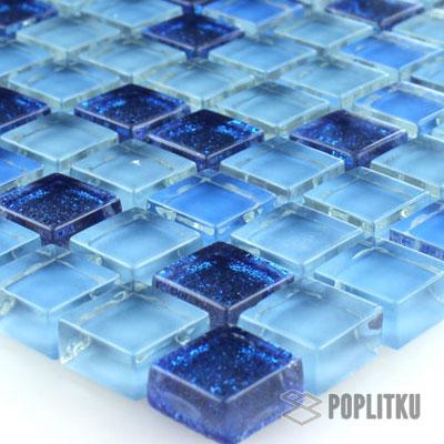 Синяя блестящая мозаика
