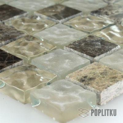 Мраморная рифлёная мозаика