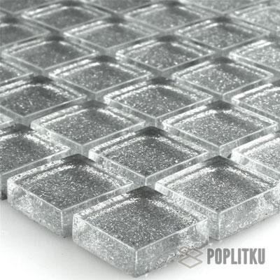 Блестящая серебренная мозаика