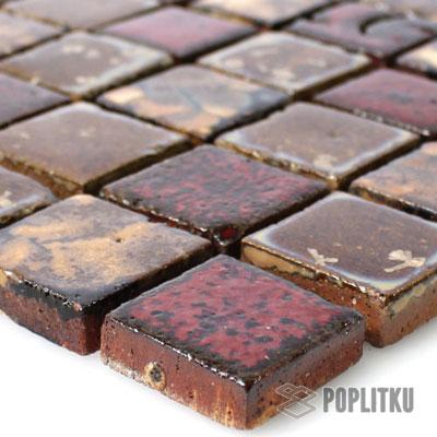 Красно-коричневая мозаика